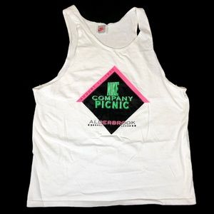 Vintage Nike Company Picnic Tank Top 90s Made USA